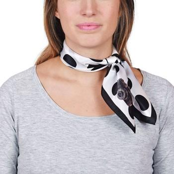 Accessoires textile Homme Echarpes / Etoles / Foulards Allée Du Foulard Carré de soie Piccolo Piselli Noir