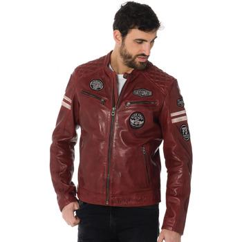 Vêtements Homme Vestes en cuir / synthétiques Daytona WALKER SHEEP ATLAS RED Bordeaux