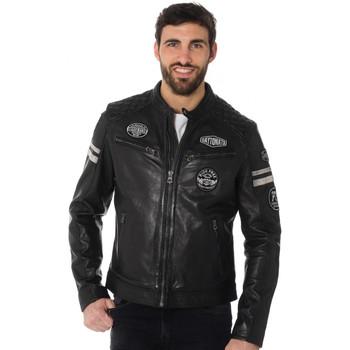 Vêtements Homme Vestes en cuir / synthétiques Daytona WALKER SHEEP ATLAS BLACK Noir