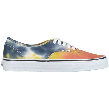 Chaussures Femme Baskets basses Vans Baskets U Authentic Tye Dye  Marine Noir Orange