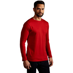 Vêtements Homme T-shirts manches longues Promodoro T-shirt Premium manches longues Hommes rouge feu