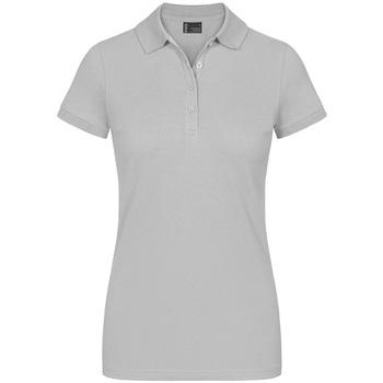 Vêtements Femme Polos manches courtes Promodoro Polo de travail Femmes gris clair