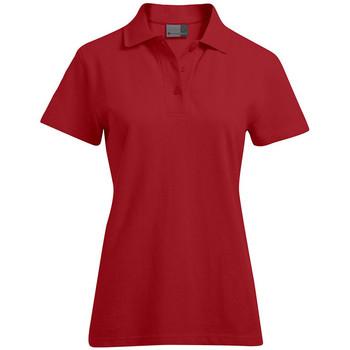 Vêtements Femme Polos manches courtes Promodoro Polo supérieur grandes tailles Femmes rouge feu
