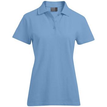 Vêtements Femme Polos manches courtes Promodoro Polo supérieur grandes tailles Femmes bleu ciel