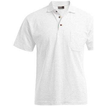 Vêtements Homme Polos manches courtes Promodoro Polo épais poche grandes tailles Hommes blanc