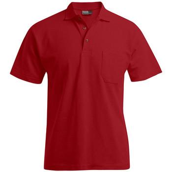 Vêtements Homme Polos manches courtes Promodoro Polo épais poche grandes tailles Hommes rouge feu