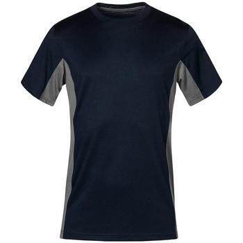 Vêtements T-shirts manches courtes Promodoro T-shirt unisexe fonctionnel grandes tailles Hommes et Femmes bleu marine / gris