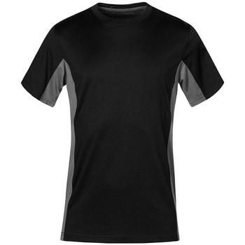 Vêtements T-shirts manches courtes Promodoro T-shirt unisexe fonctionnel grandes tailles Hommes et Femmes noir / gris