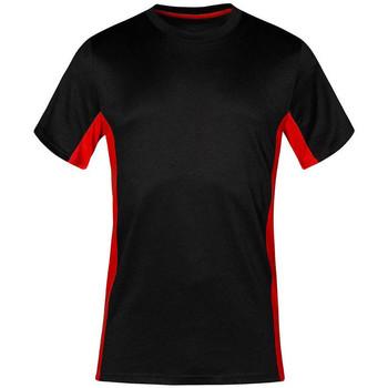 Vêtements T-shirts manches courtes Promodoro T-shirt unisexe fonctionnel grandes tailles Hommes et Femmes noir / rouge