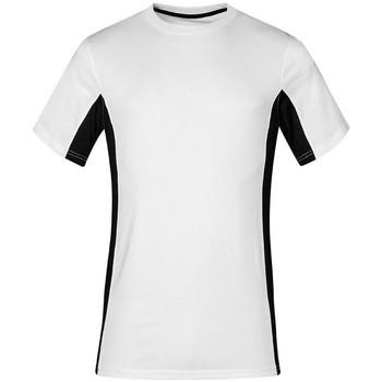 Vêtements T-shirts manches courtes Promodoro T-shirt unisexe fonctionnel grandes tailles Hommes et Femmes blanc / noir