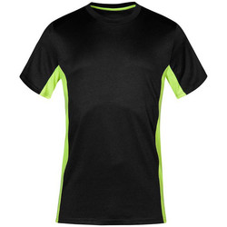 Vêtements T-shirts manches courtes Promodoro T-shirt unisexe fonctionnel Hommes et Femmes graphite - jaune fluo