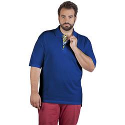 Vêtements Homme Polos manches courtes Promodoro Polo supérieur Fan Suède grandes tailles Hommes bleu roi
