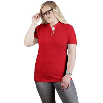 Vêtements Femme Polos manches courtes Promodoro Polo supérieur Fan Autriche grandes tailles Femmes rouge feu