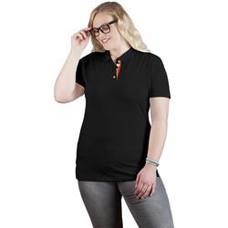 Vêtements Femme Polos manches courtes Promodoro Polo supérieur Fan Belgique grandes tailles Femmes noir