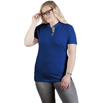 Vêtements Femme Polos manches courtes Promodoro Polo supérieur Fan Suède grandes tailles Femmes bleu roi