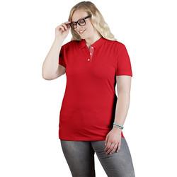 Vêtements Femme Polos manches courtes Promodoro Polo supérieur Fan Suisse grandes tailles Femmes rouge feu