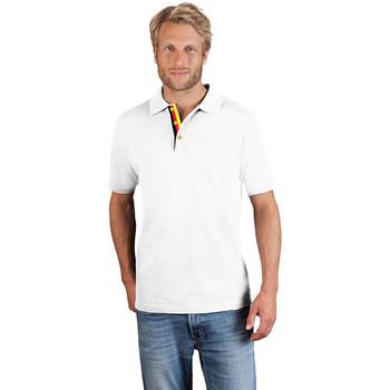 Vêtements Homme Polos manches courtes Promodoro Polo supérieur Fan Allemagne Hommes blanc