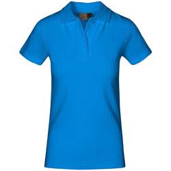 Vêtements Femme Polos manches courtes Promodoro Polo supérieur Femmes turquoise