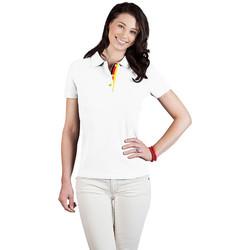 Vêtements Femme Polos manches courtes Promodoro Polo supérieur Fan Allemagne Femmes blanc