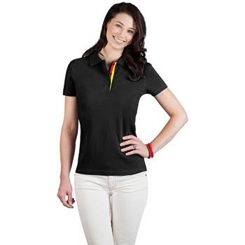 Vêtements Femme Polos manches courtes Promodoro Polo supérieur Fan Allemagne Femmes noir