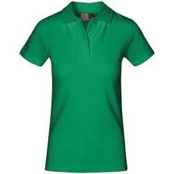 Vêtements Femme Polos manches courtes Promodoro Polo supérieur Femmes vert kelly