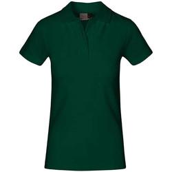 Vêtements Femme Polos manches courtes Promodoro Polo supérieur grandes tailles Femmes vert forêt