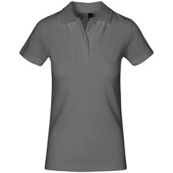 Vêtements Femme Polos manches courtes Promodoro Polo supérieur grandes tailles Femmes gris acier