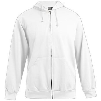 Vêtements Homme Sweats Promodoro Veste sweat capuche zippée coton Hommes promotion blanc