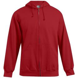 Vêtements Homme Sweats Promodoro Veste sweat capuche zippée coton Hommes promotion rouge feu
