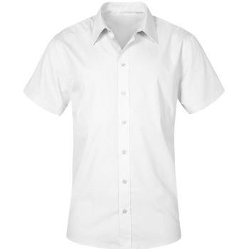 Vêtements Homme Chemises manches courtes Promodoro Chemise Business manches courtes grandes tailles Hommes blanc