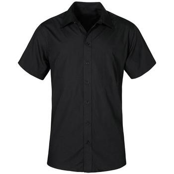 Vêtements Homme Chemises manches courtes Promodoro Chemise Business manches courtes grandes tailles Hommes noir