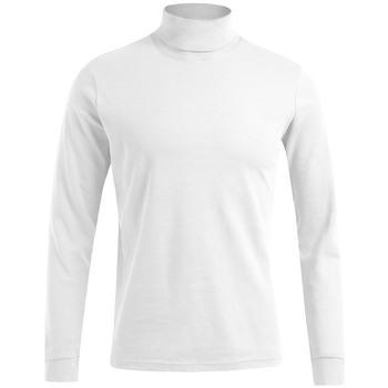 Vêtements Homme T-shirts manches longues Promodoro T-shirt manches longues col tortue grandes tailles Hommes blanc