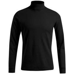 Vêtements Homme T-shirts manches longues Promodoro T-shirt manches longues col tortue Hommes noir