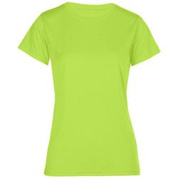 Vêtements Femme T-shirts manches courtes Promodoro T-shirt UV-Performance grandes tailles Femmes vert fluo