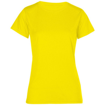 Vêtements Femme T-shirts manches courtes Promodoro T-shirt UV-Performance grandes tailles Femmes jaune fluo