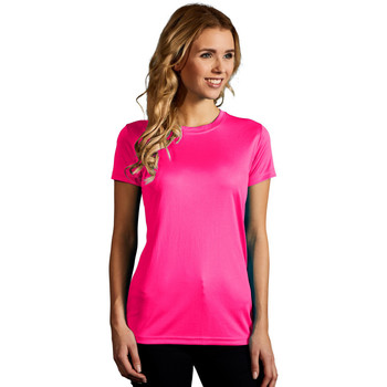 Vêtements Femme T-shirts manches courtes Promodoro T-shirt UV-Performance Femmes rose fluo