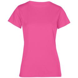 Vêtements Femme T-shirts manches courtes Promodoro T-shirt UV-Performance grandes tailles Femmes rose fluo