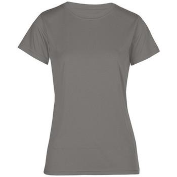 Vêtements Femme T-shirts manches courtes Promodoro T-shirt UV-Performance grandes tailles Femmes gris