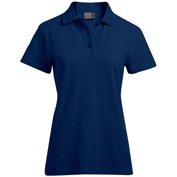 Vêtements Femme Polos manches courtes Promodoro Polo supérieur grandes tailles Femmes bleu marine