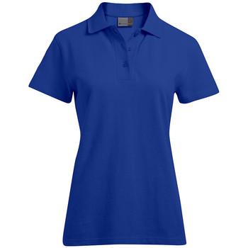 Vêtements Femme Polos manches courtes Promodoro Polo supérieur grandes tailles Femmes bleu roi