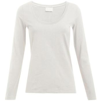 Vêtements Femme T-shirts manches longues Promodoro T-shirt slim manches longues grandes tailles Femmes blanc cassé