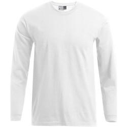 Vêtements Homme T-shirts manches longues Promodoro T-shirt Premium manches longues grandes tailles Hommes blanc