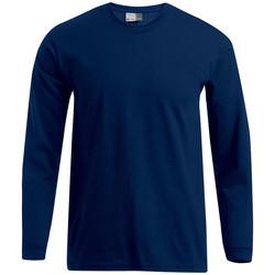 Vêtements Homme T-shirts manches longues Promodoro T-shirt Premium manches longues Hommes bleu marine