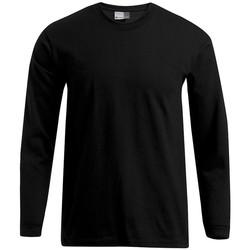 Vêtements Homme T-shirts manches longues Promodoro T-shirt Premium manches longues Hommes noir