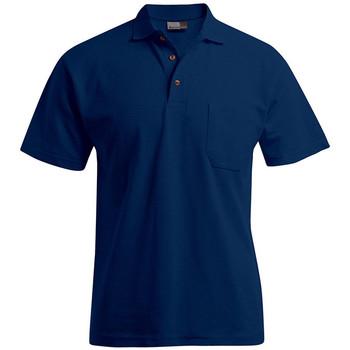 Vêtements Homme Polos manches courtes Promodoro Polo épais poche grandes tailles Hommes bleu marine