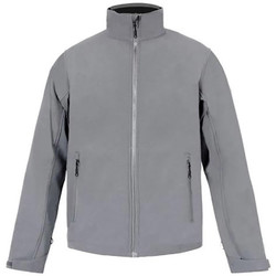 Vêtements Homme Coupes vent Promodoro Veste Softshell C+ grandes tailles Hommes gris acier
