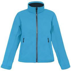 Vêtements Femme Coupes vent Promodoro Veste Softshell C+ grandes tailles Femmes Bleu azur