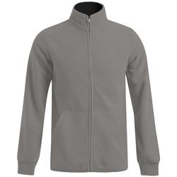 Vêtements Homme Polaires Promodoro Veste polaire doublée grandes tailles Hommes gris / noir