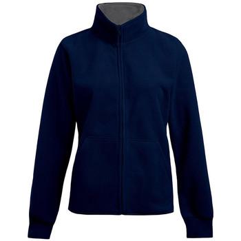 Vêtements Femme Polaires Promodoro Veste polaire doublée grandes tailles Femmes bleu marine / gris