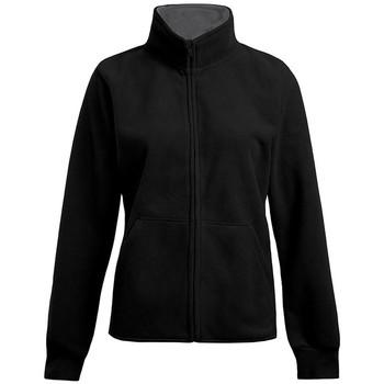 Vêtements Femme Polaires Promodoro Veste polaire doublée grandes tailles Femmes noir / gris